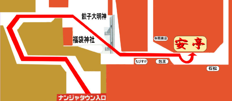 ナンジャタウン入り口からの地図